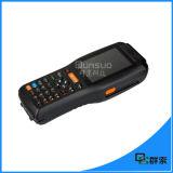 Scanner tenu dans la main androïde de code barres de l'écran tactile PDA industriel avec l'imprimante