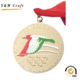 Goldmetall passen Sport-Medaille preiswertes Ym1170 an