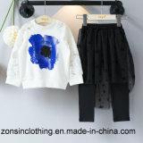 Ropa de dos piezas de los niños de Fshion (falda de T-shirt+)