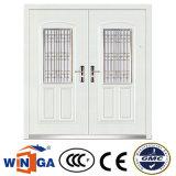 Porte blanche de fer en métal de garantie d'Europ de tailles importantes de couleur (W-SD-03)