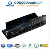 El negro anodizó el panel de aluminio/de aluminio para la electrónica con el CNC trabajado a máquina