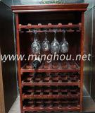 108 cremalheira de madeira do vinho da mobília do frasco DIY para o carrinho de indicador Home do armazenamento