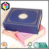 Rectángulo de papel de la cartulina del regalo elegante plegable de la joyería para la bufanda