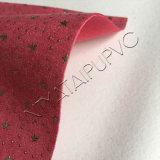 Couro de sapata de couro gravado retro do projeto da forma da alta qualidade do PVC da elasticidade
