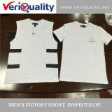 Brei Bovenkanten/de Grafische Dienst van de Inspectie van de Kwaliteitsbeheersing Van de T-shirt in Nan-Tchang, Jiangxi