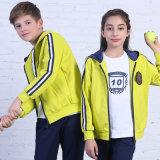 Desgaste barato de los deportes de los Tracksuits, ropa de deportes de la escuela de las muchachas, tela para la ropa de deportes del juego de pista