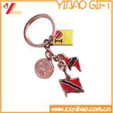 Preiswertes kundenspezifisches Firmenzeichen-Großhandelsmetall Keychain (Yi-KY-02)