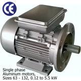 Einphasig-Aluminiummotoren (Größen 63 - 132, 0.12 zu 5.5kW)