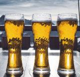 人の打撃ビールガラスの高い高さ
