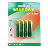 Bateria 1.5V alcalina do AA para o microfone do rádio