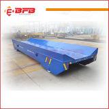 carrello elettrico autoalimentato della guida dell'onere gravoso del tamburo per cavi 50t sulle rotaie