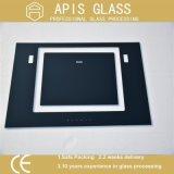 el vidrio de la impresión de la pantalla de seda de 3-12m m/coloreó la frita de cristal/de cerámica pintada de cristal con el marco negro