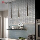 A parede metálica da prata do Wiredrawing do mosaico telha a decoração Home interior de Backsplash da cozinha da etiqueta DIY