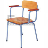 Cómodo y Durable Student Armrest Chair, Wooden Chair