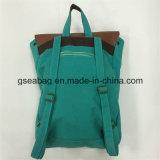 方法新しい設計されていた実質の革キャンバスのバックパック旅行スポーツ偶然袋(GB#20080)