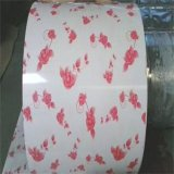 Blanc Bas PPGI Violet Imprimer Fleur De Chine