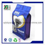 Aliment pour animaux familiers de constructeur empaquetant le sac scellé 8 par côtés de fond plat