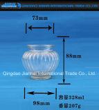 Vertikaler Streifen-Kerze-Halter-Glasflasche