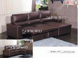 Möbel-ausgedehntes ledernes Sofa-Bett (712#)