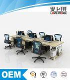 Estação de trabalho moderna de Partiton do escritório da mesa de escritório para 6people