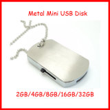 금속 Pendrive 군 군번줄 모양 USB 섬광 드라이브