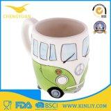 Le bus en céramique de sublimation de nouveauté a conçu la tasse de café de cuvette de thé