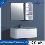 Neuer Belüftung-moderner weißer Glasbassin-Badezimmer-Schrank