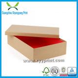 Venta al por mayor de encargo del rectángulo de zapato del papel de la cartulina de la alta calidad