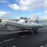 Barco inflável do reforço da casca da fibra de vidro de Liya 27FT com motor
