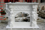 백색 대리석 벽난로 주위 꽃 벽로선반 (SY-MF019)