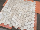 Mattonelle di mosaico di marmo di esagono di Crema Marfil