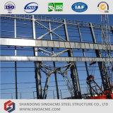 Atelier préfabriqué élevé de structure métallique