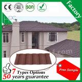 Material de construção revestido da casa da folha da telha de telhado do metal da pedra de aço de alumínio do material de telhadura