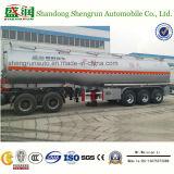 Aanhangwagen van de Tanker van de Legering van het Aluminium van Shengrun 3axle de Vloeibare voor het Verkopen