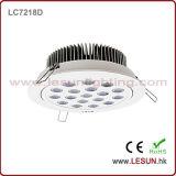 La memoria di monili approvata dell'alluminio 18W del Ce LED giù si illumina