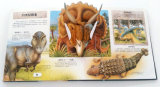 La impresión de papel surge los libros acerca del dinosaurio