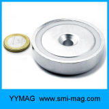 Бак магнита Neodimium отмелый с зенкованным отверстием, стальной чашкой путем штемпелевать раковину