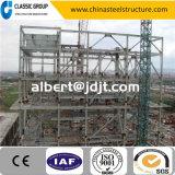 Almacén directo de la estructura de acero de la fábrica ligera económica/vertido/hangar con diseño