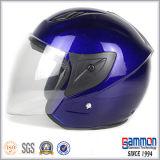 De de uitstekende Motorfiets van het Gezicht van de Steen Zwarte Open/Helm van de Motor (OP226)
