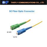 Conector Óptico de Fibra de Sc/Upc Sc/APC