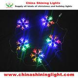 Nuovi indicatori luminosi di natale della decorazione LED di festa del fiocco di neve di disegno