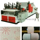 색깔 Glue Lamination와 Embossing Small Toilet Paper Making Machine