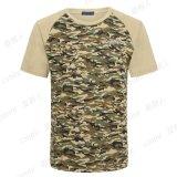 T-shirt rond de Camoflage de collet (QF-2191)