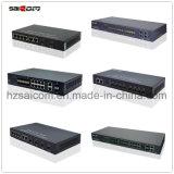 Interruttore stabile di Broadcom POE di gigabit di Saicom (SCG2-1124PF) 20km/SC/LC SFP per il sistema di controllo