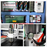 Baixa máquina de gravura de vidro do CNC 3D do custo Akm6090 com dispositivo giratório