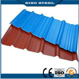 Colorear la hoja de acero acanalada revestida del material para techos con la película