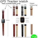 Adulto GPS che segue unità con la cinghia di cuoio estesa (T58)