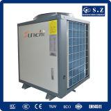 Casa sanitaria usar la potencia Cop4.23 19kw, 35kw, 45kw, sistema del Save70% de calefacción superior máximo de la agua caliente de la pompa de calor del aire del ventilador de 70kw 60deg c Dhw