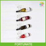 Organisateur acrylique clair de support d'étalage de crémaillère de vin de support de mur