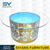 Esszimmer-Möbel-runde Speisetisch-Glastische für Hochzeiten